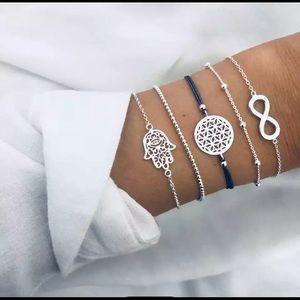 Multilayer Hamas Hand Infinity Bracelet